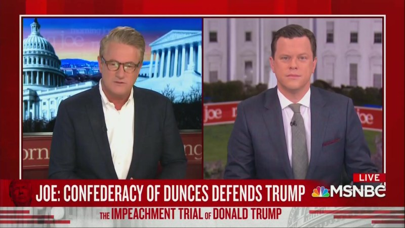 Joe Scarborough Ridicules Trump's Impeachment Lawyers: 'Confederacy of Dunces!'