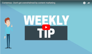 Contemsa - Dont get overwhelmed by content marketing