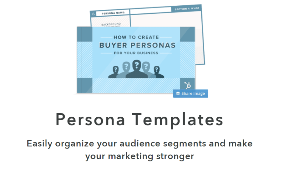 Free buyer persona template-Hubspot