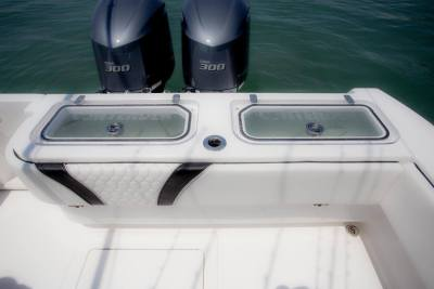Twin  yamaha  gal livewells Contender Boats ST  interior