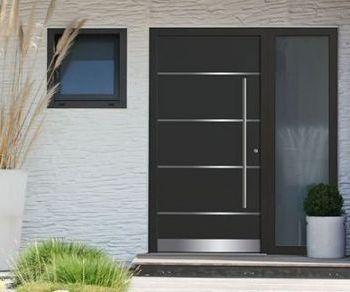 Holzhaustüren oder Aluminiumhaustüren modern oder Stiltüren