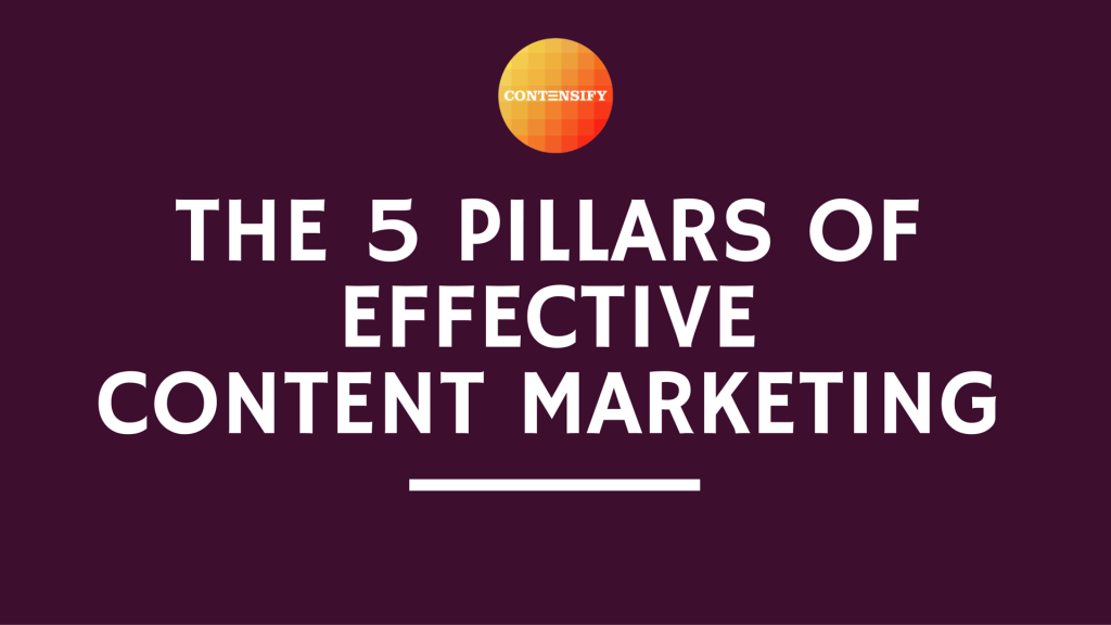 content marketing pillars contensify