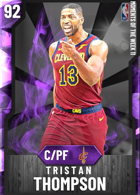 NBA 2K20 | 2KDB Tristan Thompson (92) complete stats