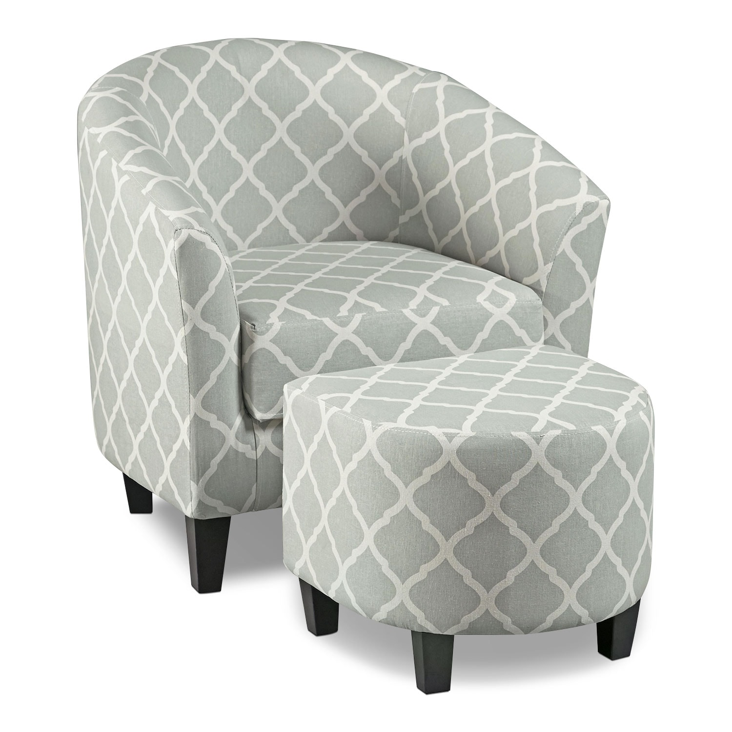 Sperrie Accent Chair With Ottoman