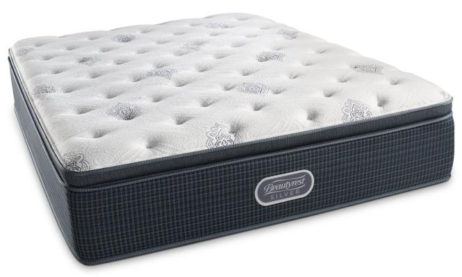 White River Plush Pillowtop Queen Mattress And Foundation Set By Beautyrest Silver