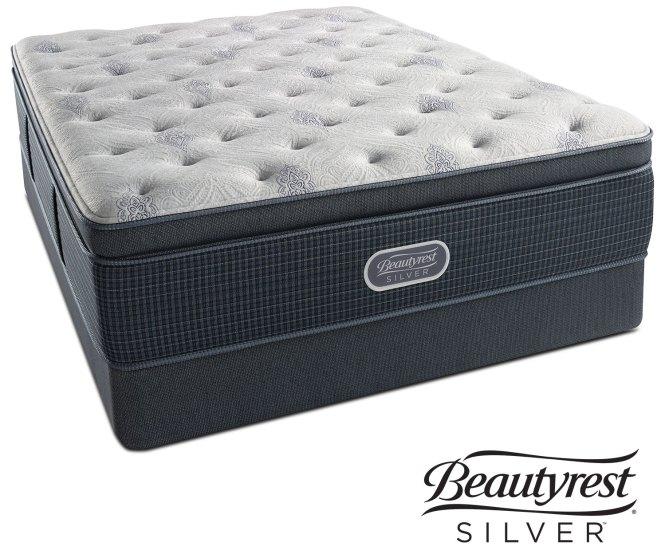 Crystal Ridge Luxury Firm Pillowtop Queen Mattress And Foundation Set