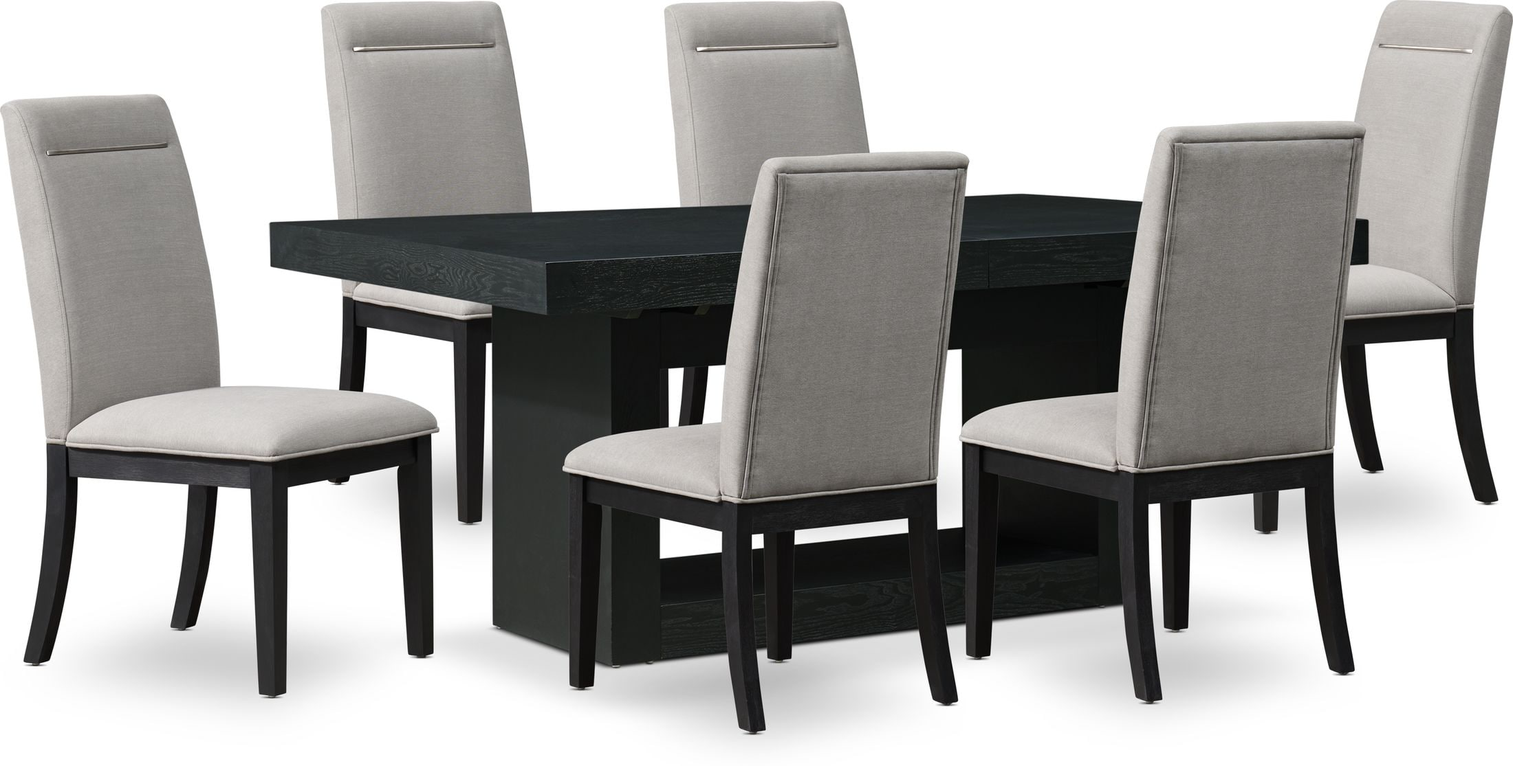banks dining table with 6 chairs