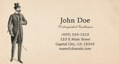 A Calling Card for John Doe Gentleman