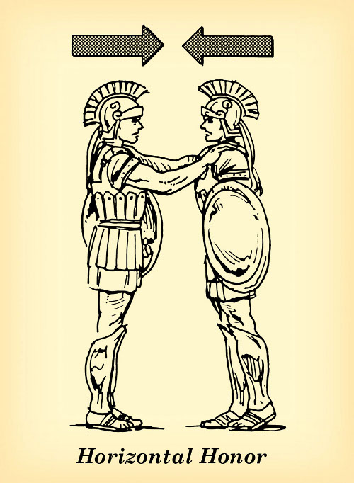horizontal honor roman soldiers brothers peers illustration