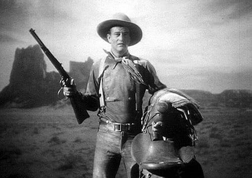 дилижанс старый западный фильм фильм Джон Уэйн с винтовкой