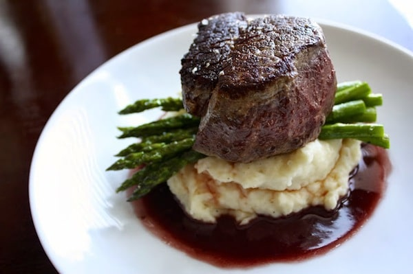 booze - Pan Seared Filet + Red Wine Sauce