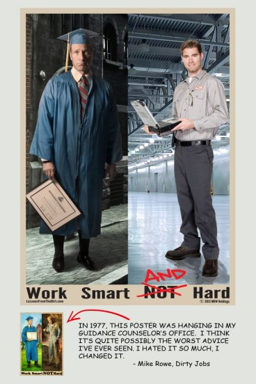work smart and hard poster mike rowe