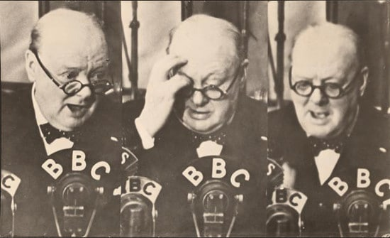 winston churchill speaking on bbc radio
