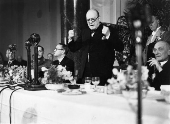 winston churchill passionate speaking