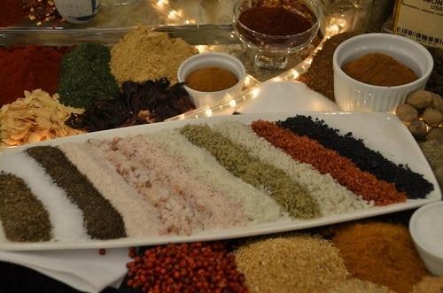 Various sea salts.