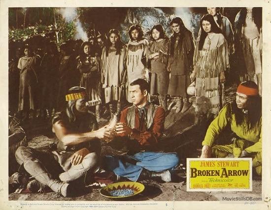 джеймс стюарт сломанная стрелка западный постер фильма