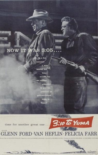 3:10 к юме 1957 западный постер фильма