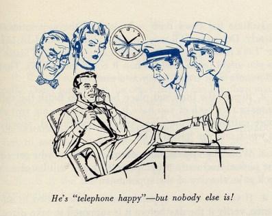 vintage man on telephone illustration