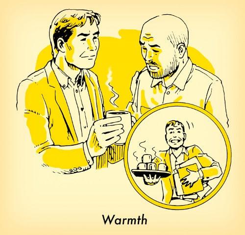 hombre trayendo otra mana taza de café ilustración
