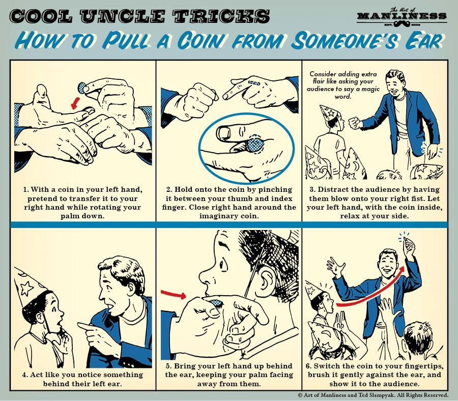 How to Pull a Coin from Someone's Ear | The Art of Manliness