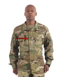 A Civilian s Primer on Military Rank and Insignia   The Art of Manliness Center of the chest  Whether he s an officer or enlisted  the Soldier s  rank will be on a patch in the middle of the chest on a combat uniform