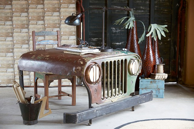 Reclaimed Willys Jeep Desk from Smithers of Stamford
