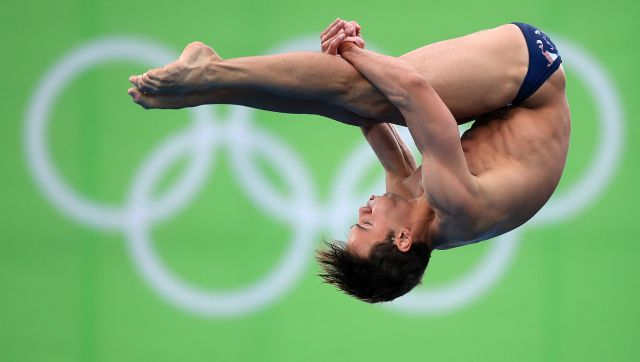 Tom Daley during the Men's 10m Platform Semi Final at the Rio Olympic Games, Brazil, in 2016. (PA)