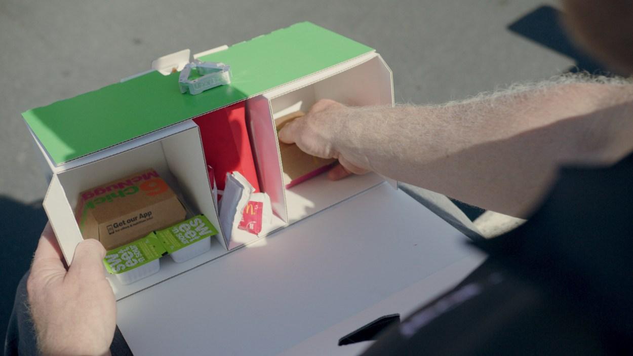 Uber Eats tests sending McDonald's via drone