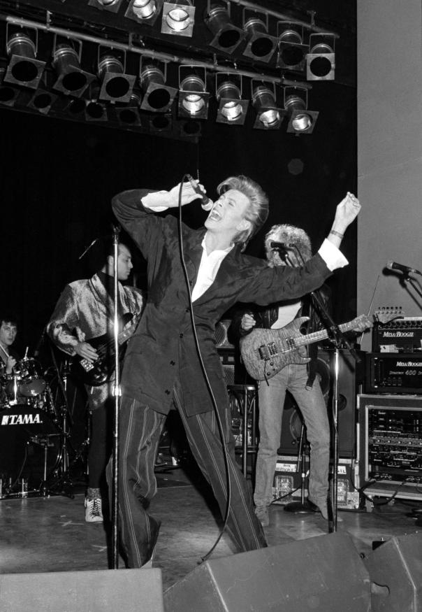 Bowie onstage in 1987