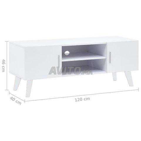 meuble tv blanc 120 x 40 x 46 cm scandinave