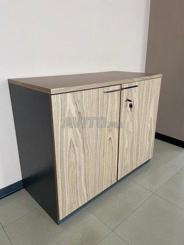 armoire basse bois 73x90cm porte battante