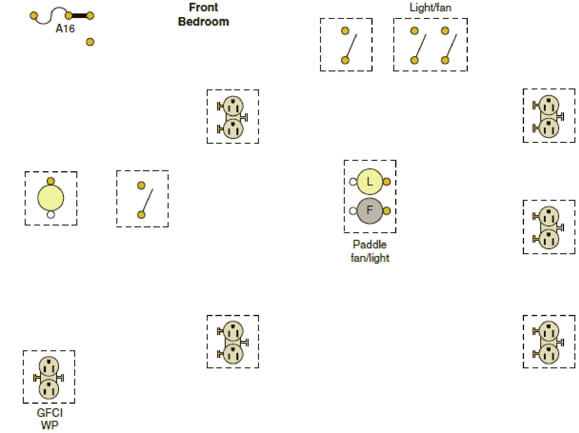 The Following Is A Layout Of The Lighting Circuit For The