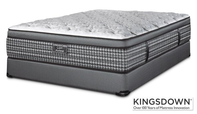 Kingsdown Aurora Queen Mattress Boxspring Set Hover To Zoom