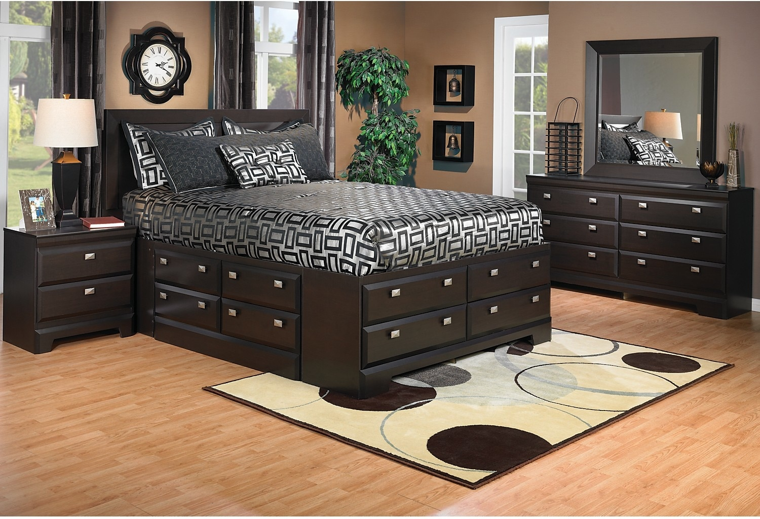 Yorkdale 6 Piece Queen Storage Bedroom Package The Brick