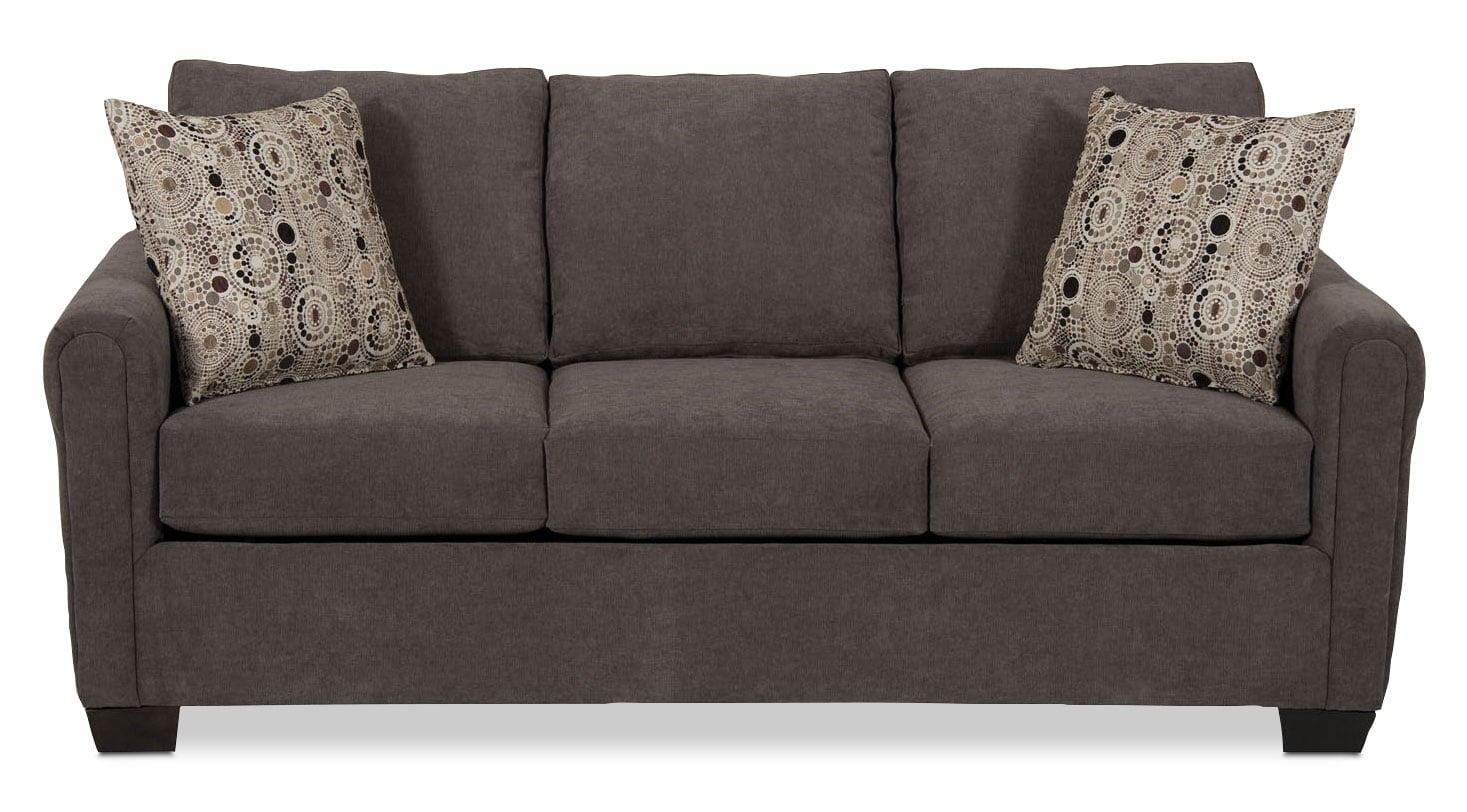 Spa Collection Chenille Full-Size Sofa Bed With Memory
