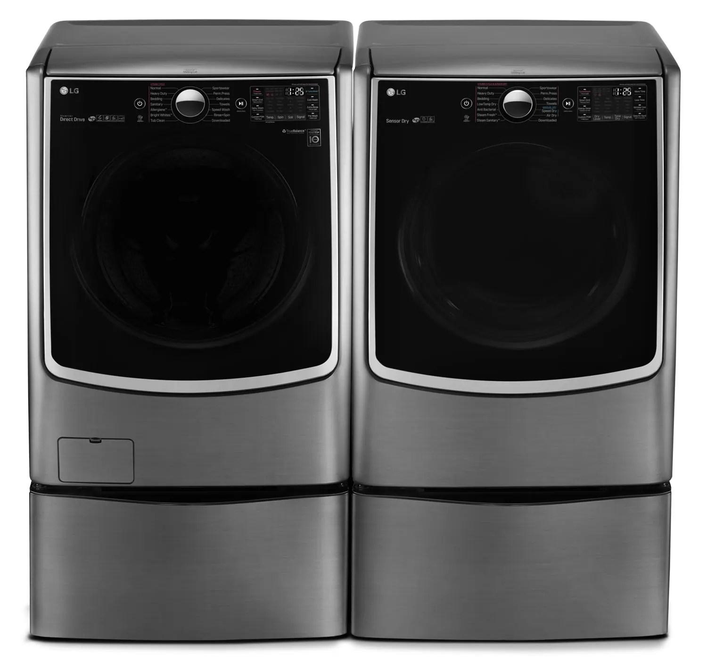 Lg Twin Wash 6 0 Cu Ft Front Load Washer Pedestal