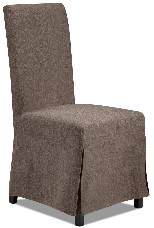 Glambrey Slip Chair W 2 Covers Denim And Slate Leons