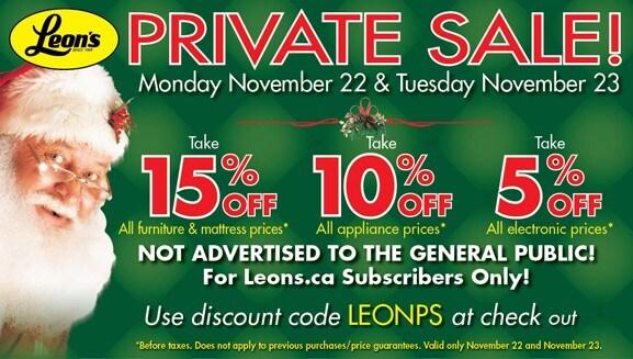 Leons Ca Private 5 15 Off Electronics Liances Furniture
