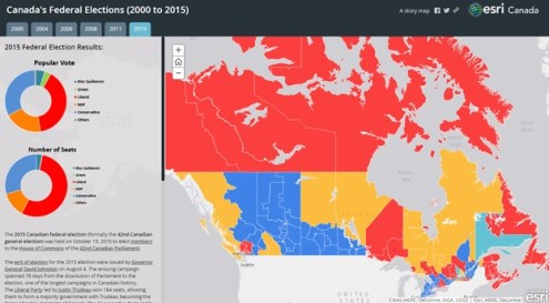 Exploring Canada s Federal Election with maps This story map displays the results of the federal elections in Canada   including the 2000  2004  2006  2008  2011 and 2015 elections
