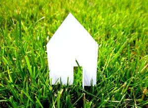 house icon on grass