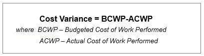 How to calculate cost variance