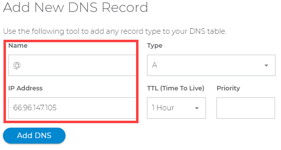 Connect Domain.com with Shopify - Type in the DNS record value