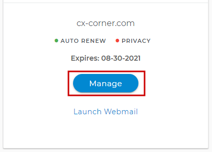 Link Your Domain.com with Wix - Card View, Manage