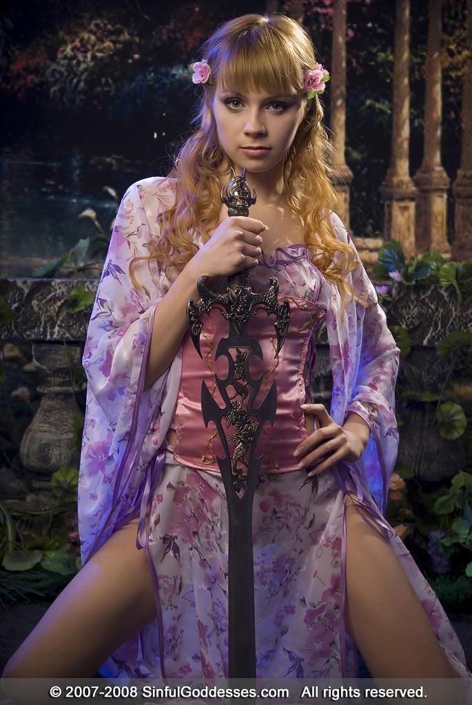 Beautiful princess with long sword - Dani - 1