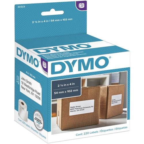 Dymo 30323 Shipping Labels 4 X 2 1 8 220 Labels Rl White Shipping Label