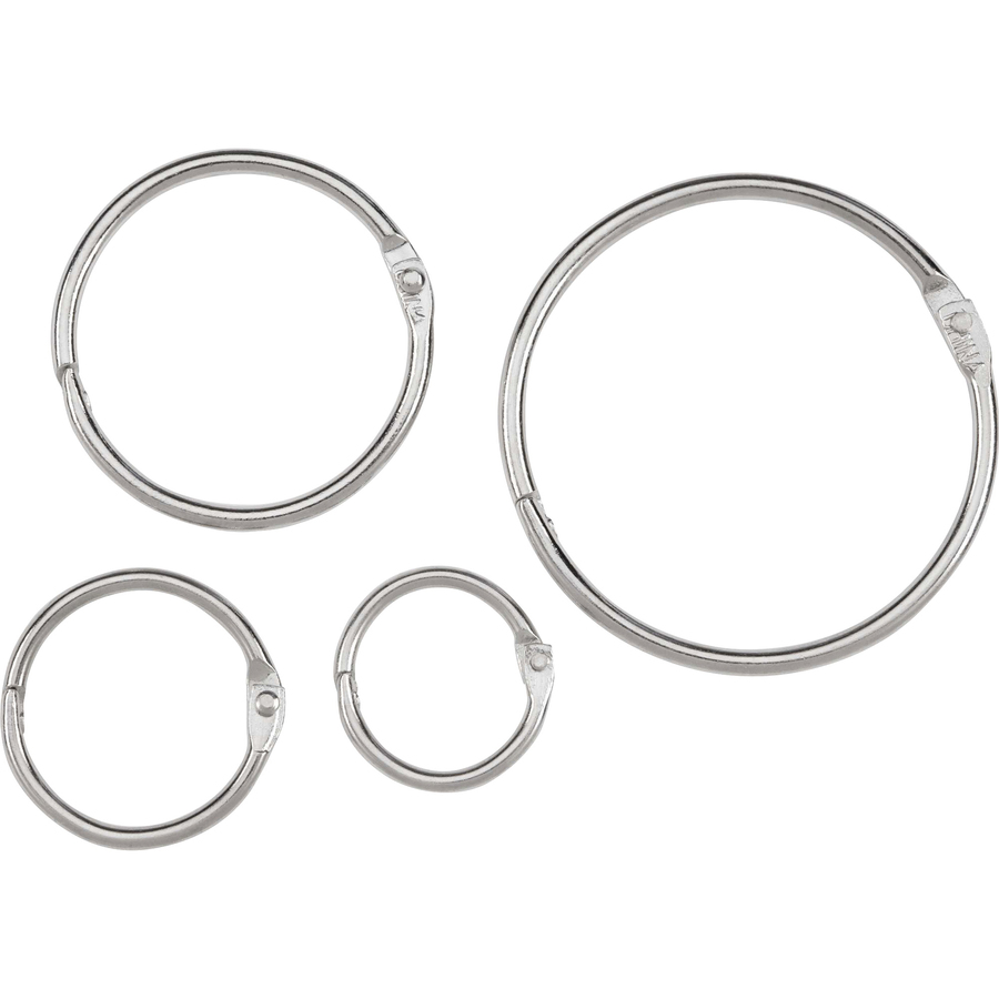 Acco Loose Leaf Rings 1 Capacity Silver 100 Box