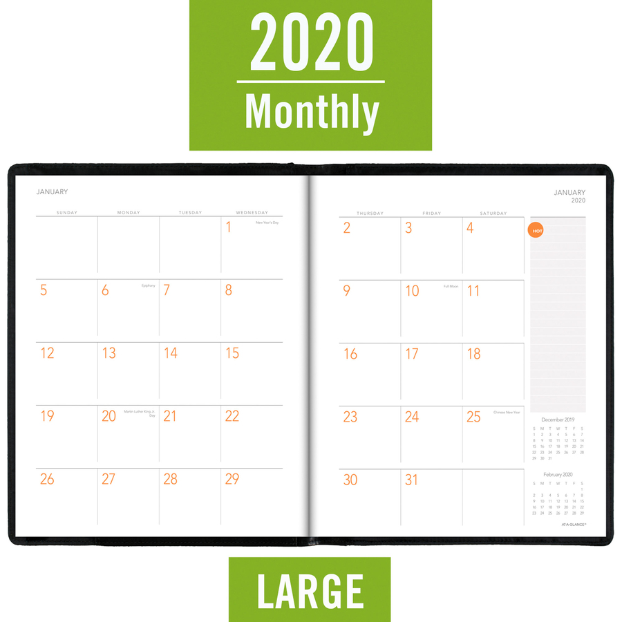 At A Glance Plan Writemember Monthly Planner And Notebook