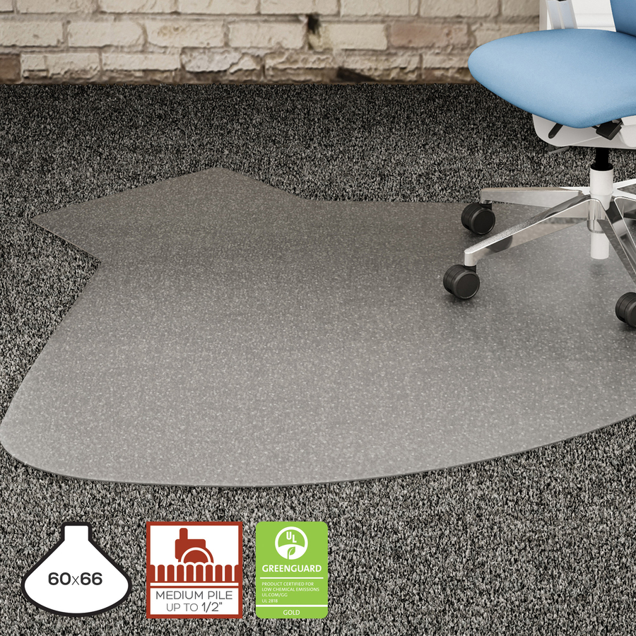 Lorell L Workstation Medium Pile Chairmat