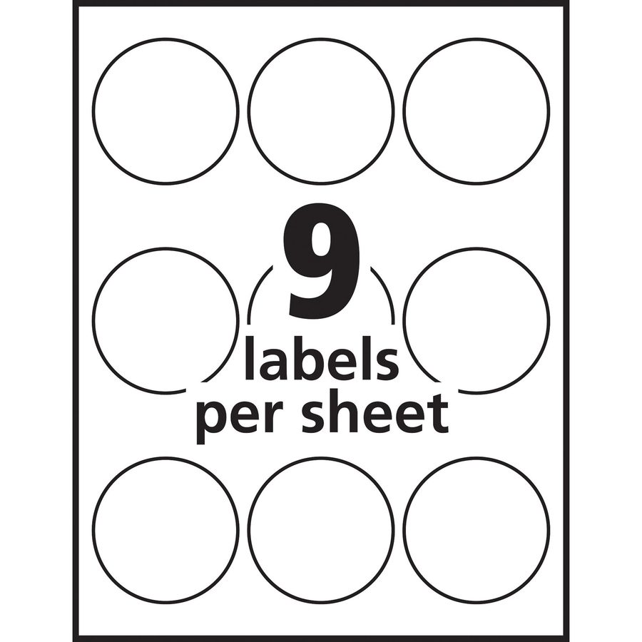 Avery White Print To The Edge Round Labels