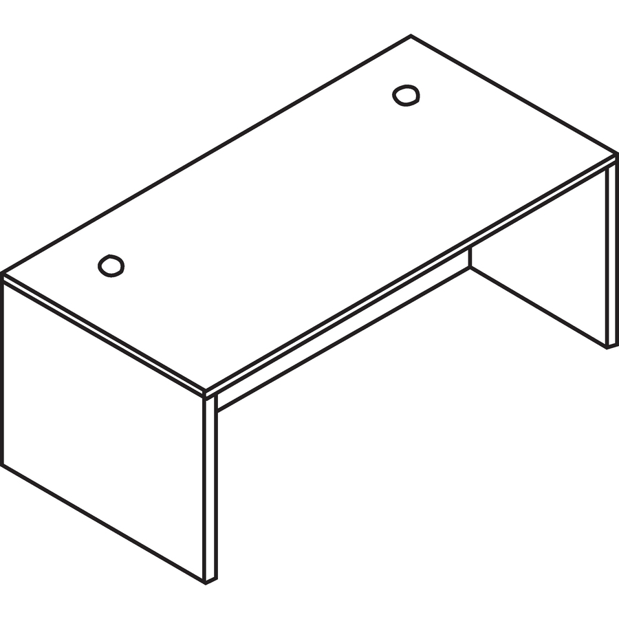 Lorell Essentials Rectangular Desk Shell